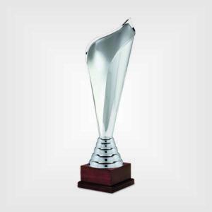 Coppa trofeo metallo legno h46 53 58 71 240